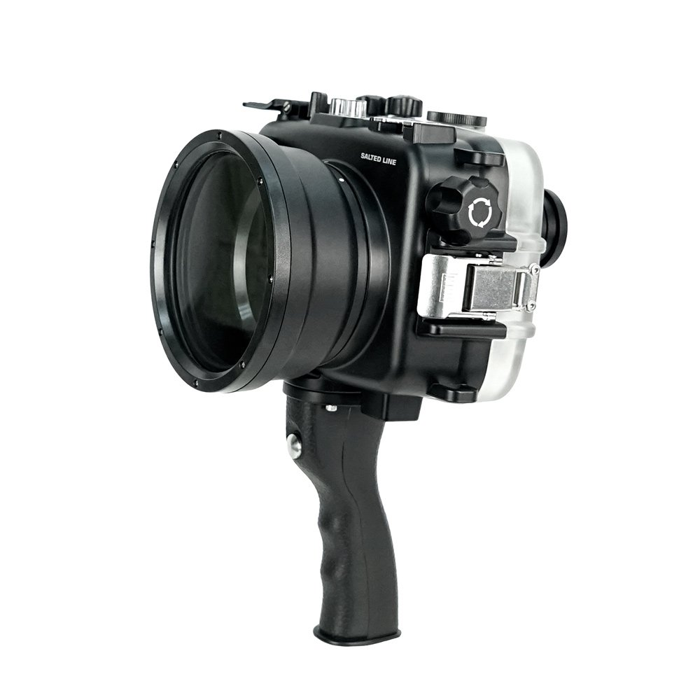 SeaFrogs 60M/195FT Waterproof housing A6xxx series Salted Line (Black) with pistol grip For Sony a6500 a6300 by KitDive (Image #5)