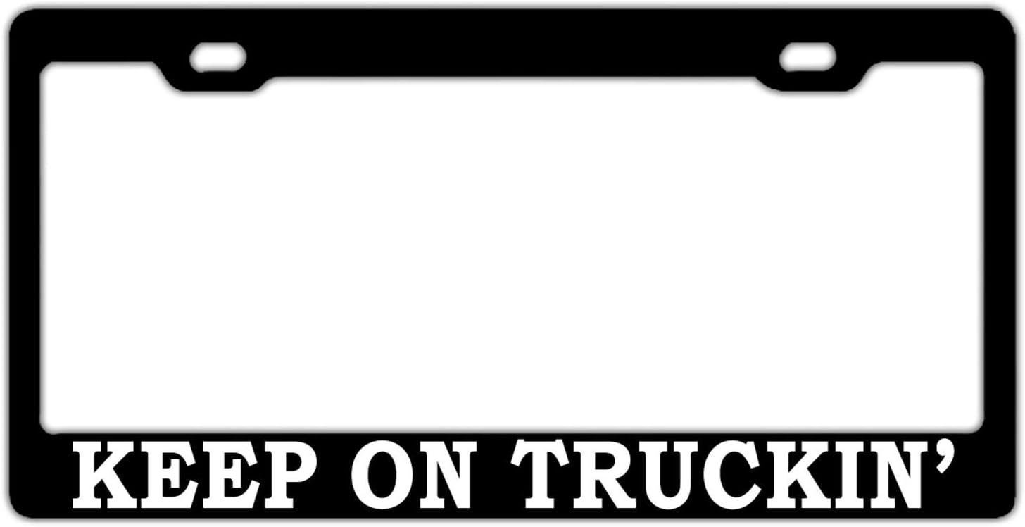 Cadre de Plaque dimmatriculation de Voiture couvertures de Plaque de licences pour Les Deux Avant et arri/ère Licence Tag Aluminium en m/étal 2/Trous et vis