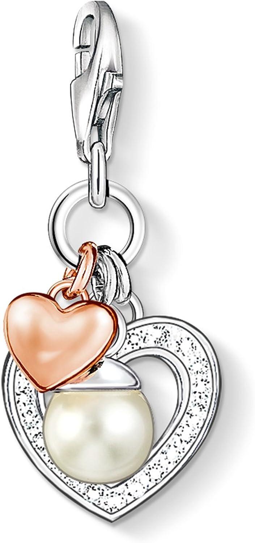 Thomas Sabo  Charm Anhänger Herz rose vergoldet 103641512