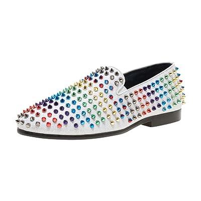 JUMP NEWYORK Men's Lisbon Slip On Spiked Evening Shoe   Oxfords