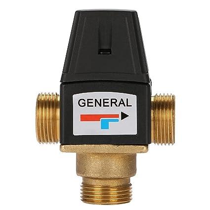 Válvula de mezcla caliente y fría de 3 vías DN20 de latón termostático para el sistema