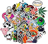 Image of Laptop Stickers [100 Pcs], Leyaron Vinyl Car Stickers Motorcycle Bicycle Luggage Decal Graffiti Patches Skateboard Stickers for Laptop - Random Sticker Pack