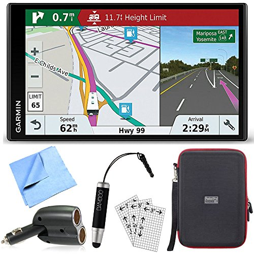 Garmin RV 770 NA LMT-S RV Dedicated GPS Navigator Essential Camping Accessory Bundle includes Car Charger, Cleaning Cloth, Screen Protectors, Hardshell Case and Bamboo Stylus Mini by Garmin