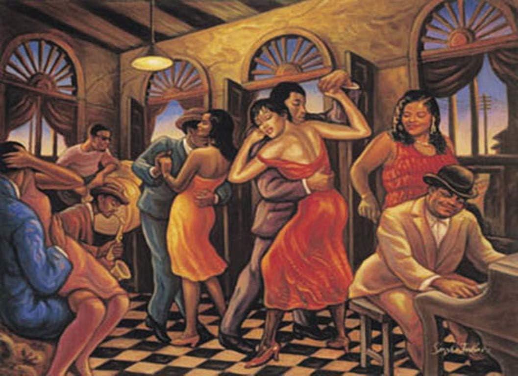 AFRICAN AMERICAN ART PRINT SWING NIGHT 24X36 POSTER