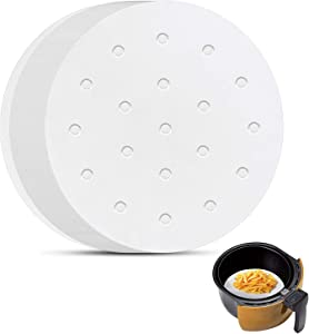 Air Fryer Parchment Paper, Set of 200, 6 Inch Round Air Fryer Liners/ Air Fryer Perforated Parchment Paper for Air Fryer, Steaming Basket and More (5/7/8/9/10in Available)
