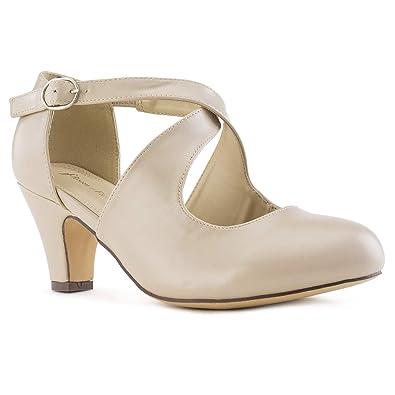 Amazon.com: Zapatos de tacón ancho Mary Jane para mujer ...