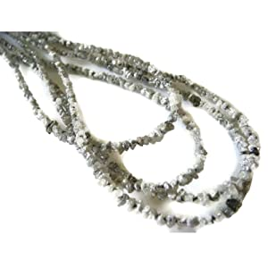 16 Inch Strand - Natural Raw Rough Uncut White Diamond Beads - 2mm To 3mm