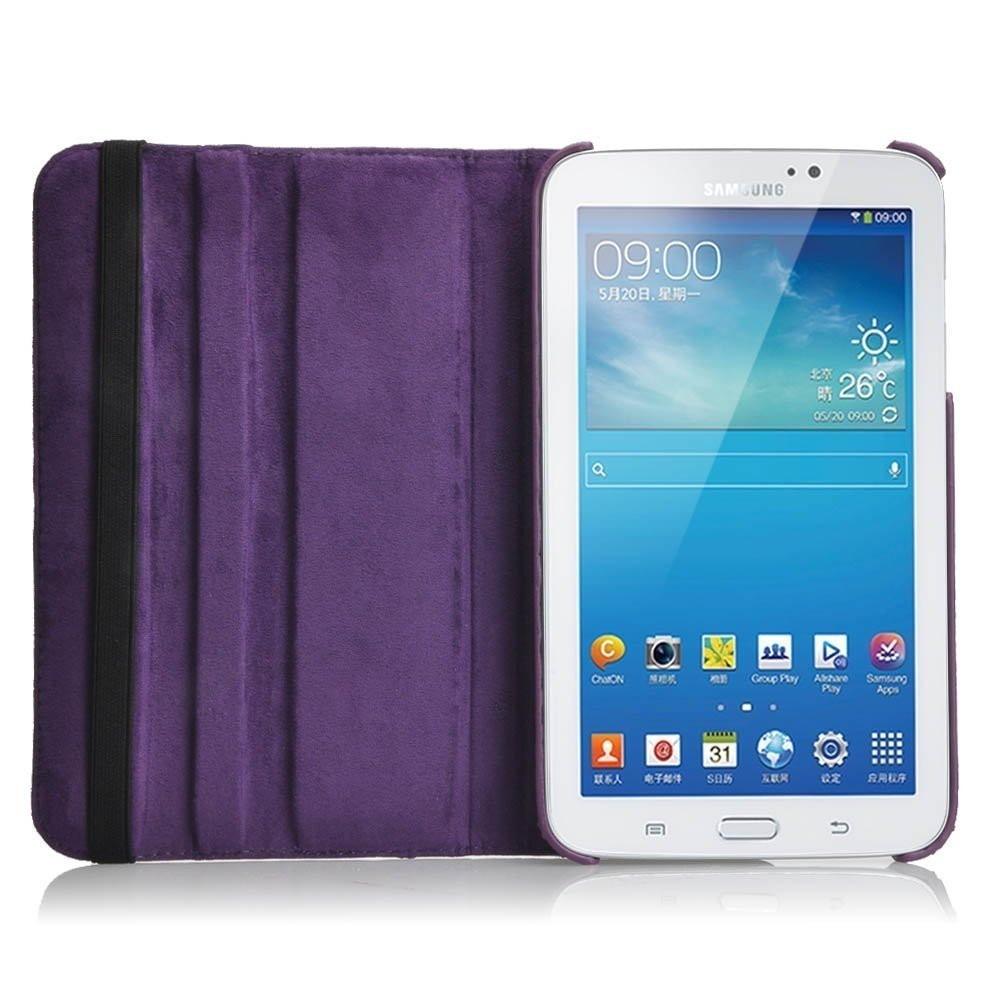 finest selection 52939 97e40 Moonmini 360 Rotation PU Leather Protective Case Cover Pouch for Samsung  Galaxy Tab 3 8.0