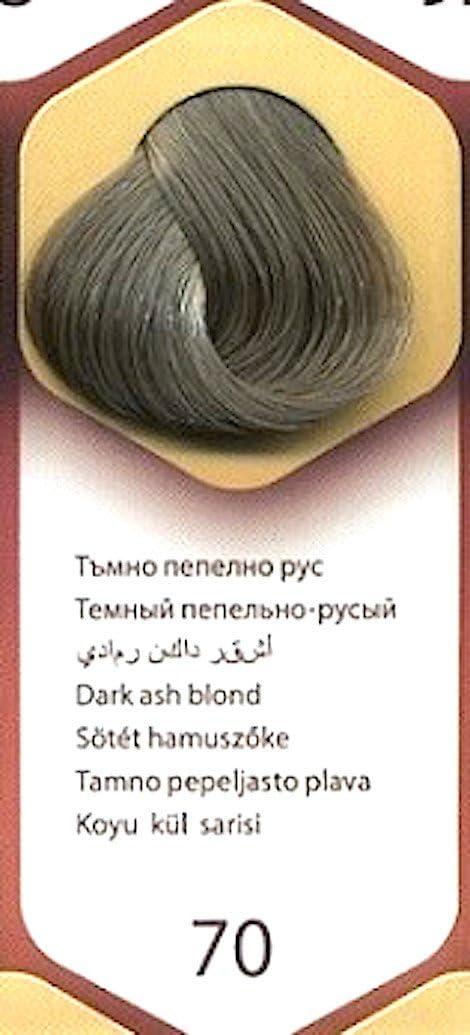 Tinte Permanente para el Cabello de Color Rubio Cenizo Oscuro ...