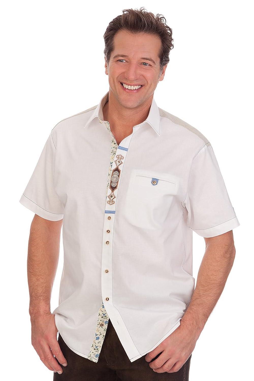 H1522 - Trachten Herren Hemd mit 1/2 Arm - weiß
