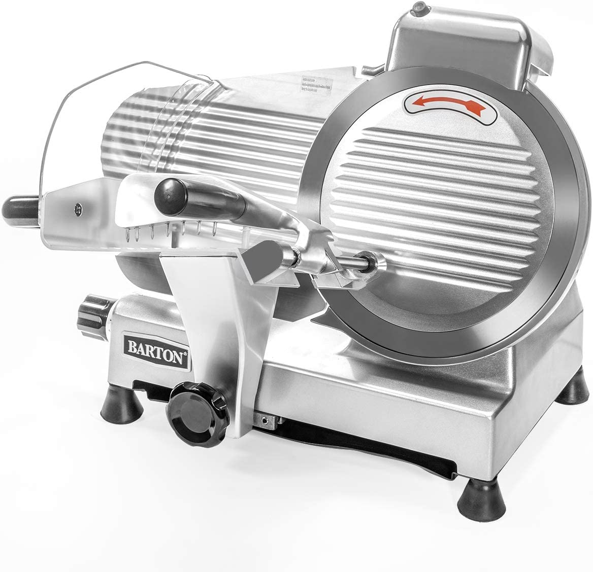 """Barton Commercial Stainless Steel Semi-Auto Meat Slicer Cheese Food Electric Deli Slicer Veggies Cutter 10"""" inch Blade"""