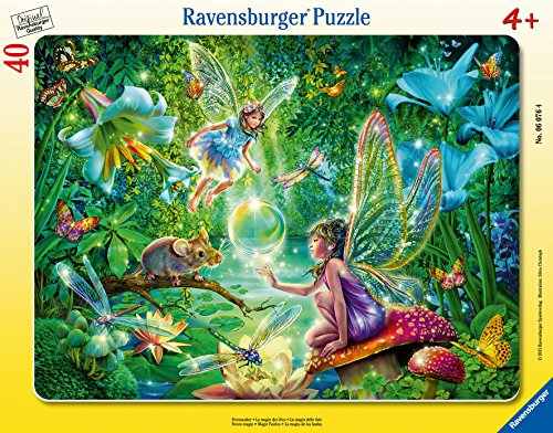 Ravensburger Fairy Magic Frame 40 Piece Jigsaw Puzzle Kids – Every Piece is Unique, Pieces Fit Together Perfectly