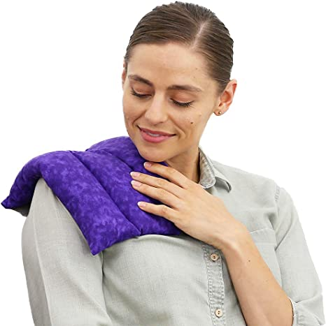 Joint Pain Cramps Injuries Microwavable Flax Seed Lavender Heating Pad or Cold Pack for Aches