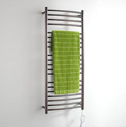 FANGYAO Montado en la pared calentada de acero inoxidable toallero eléctrico / baño Radiador / Calentador