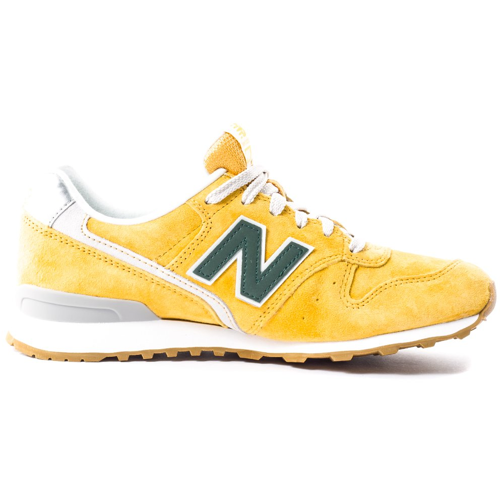 the best attitude a2c3a ddf25 New Balance WR 996 LB Redwood Womens Suede Trainers Yellow ...