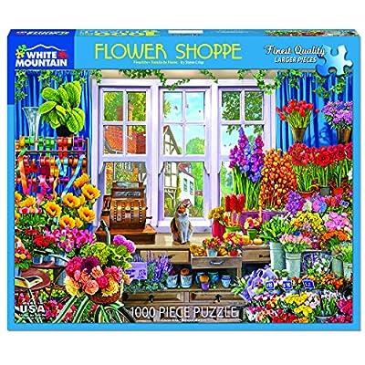 White Mountain Puzzles Flower Shop - 1000 Piece Jigsaw Puzzle: Toys & Games