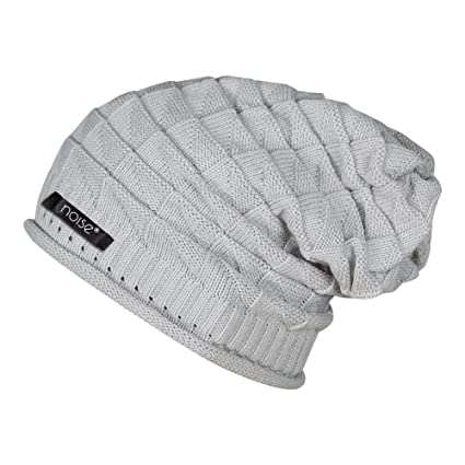 294a82944e5 Noise Men s Acrylic Beanie Cap - NOICAP-WNTR002 Grey Free Size  Amazon.in   Sports