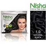 Nisha creme hair color with sunflower avocado oil & henna extracts 100% grey coverage ultra-soft deep shine no ammonia