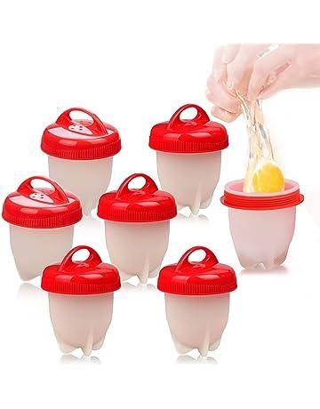 Love77 Cocedor Huevos, Cuecehuevos, Recipiente para Cocer Huevos, Ahorrar Tiempo, 7 PCS