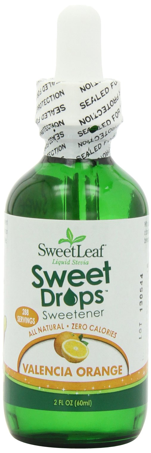 SweetLeaf Sweet Drops Liquid Stevia Sweetener, Valencia Orange, 2 Ounce (Pack of 2)