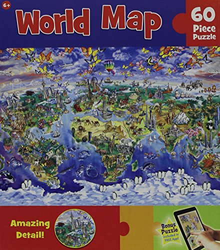 Masterpieces World Map Puzzle (60-Piece)