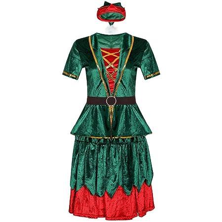 LAFE Disfraces navideños Trajes navideños para Hombres y Mujeres ...