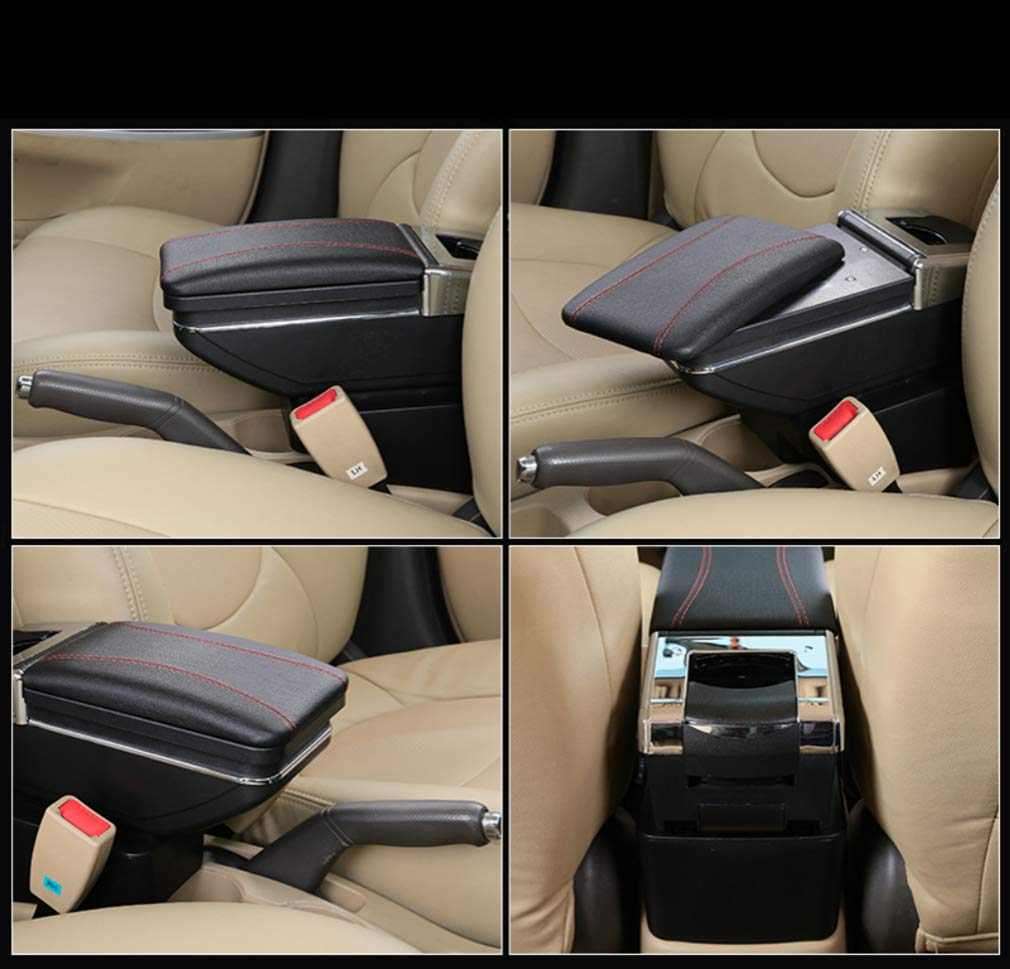 for Mitsubishi Attrage Mirage 2015-2018 Car Armrest Accessories Centre Console Storage Box Arm Rest Black