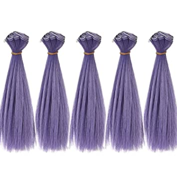 DIY BJD SD Straight Doll Wigs Synthetic Hair For Dolls 15cm Girls