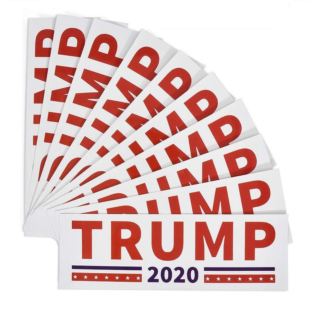 Yiphates 10Pcs Trump Car Sticker Keep America Great 2020 Election Patriotic Bumper Sticker Blue