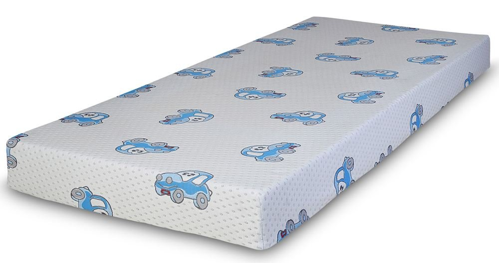 Happy Beds Choo Choo Comfy Coil Spring Reflex Foam Orthopaedic Mattress With Removable Zip Cover 3' Single 90 x 190 cm