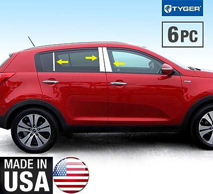 Made In USA! 2011 2016 Kia Sportage 6PC Stainless Steel Chrome Pillar Post  Trim