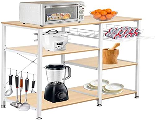 Houssem Kitchen Microwave Cart
