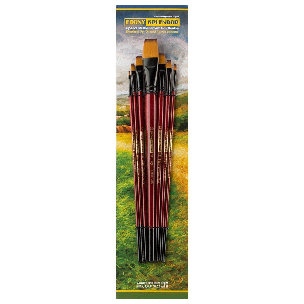 Ebony Splendor Long Handle Bright Brush Set of 7