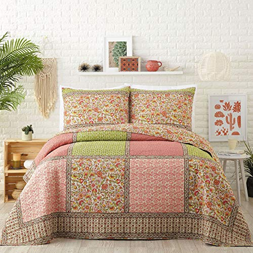 (BrylaneHome Jessica Simpson Karma Quilt - Coral, King )