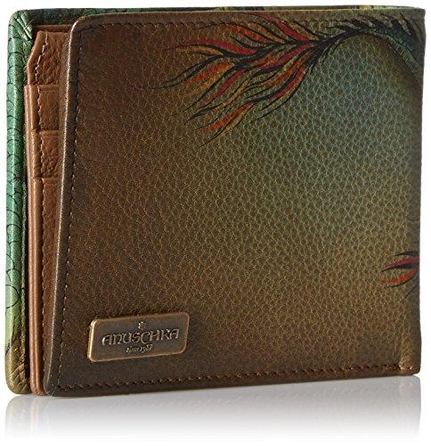 Tiger Handpainted Wallet Leather Blocking Hidden Anuschka Rfid Dragon Wallet Anuschka wild g5qw0OW