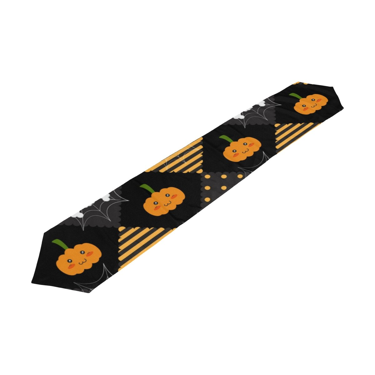 U LIFEヴィンテージストライプハッピーハロウィンスカルパンプキンかぼちゃSkullsテーブルランナーランナー13 x 70 & 13 x 90インチ 13x90 inch 13x90 inch  B075SSHL5M