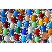Piccole sfere in vetro, 150 g, 10 - 15 mm, colorate circa 70 - 80 pezzi Pietre decorative a mosaico in vetro.