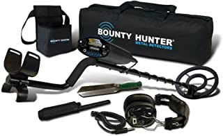 """product image for Bounty Hunter Sharp Shooter II Metal Detector with Complete Pro Kit, Carry Bag, Headphones, Pinpointer and Finds Pouch with Recovery Tool, 8"""" Water Proof Coil, 6.6kHz"""