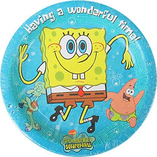 SpongeBob SquarePants Large Blue Paper Plates (20ct)