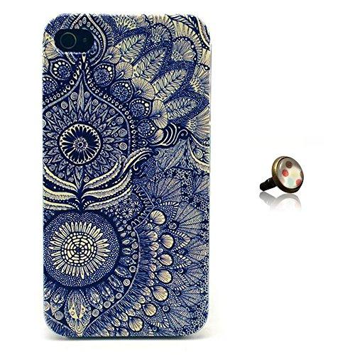 PowerQ [ para Iphone 4S 4G 4 IPhone4 IPhone4S - 6 ] Plastic Modelo colorido plástico serie del bolso del Caso del patrón de impresión Impresión Caja del teléfono móvil de dibujo de la cubierta móvil P 6