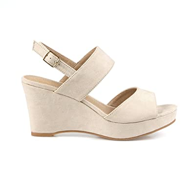 Duncan02 Women's Wedge Sandals in Nude