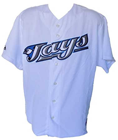 b508b3ff5 Image Unavailable. Image not available for. Color  Toronto Blue Jays  Majestic Replica White Jersey Size Large
