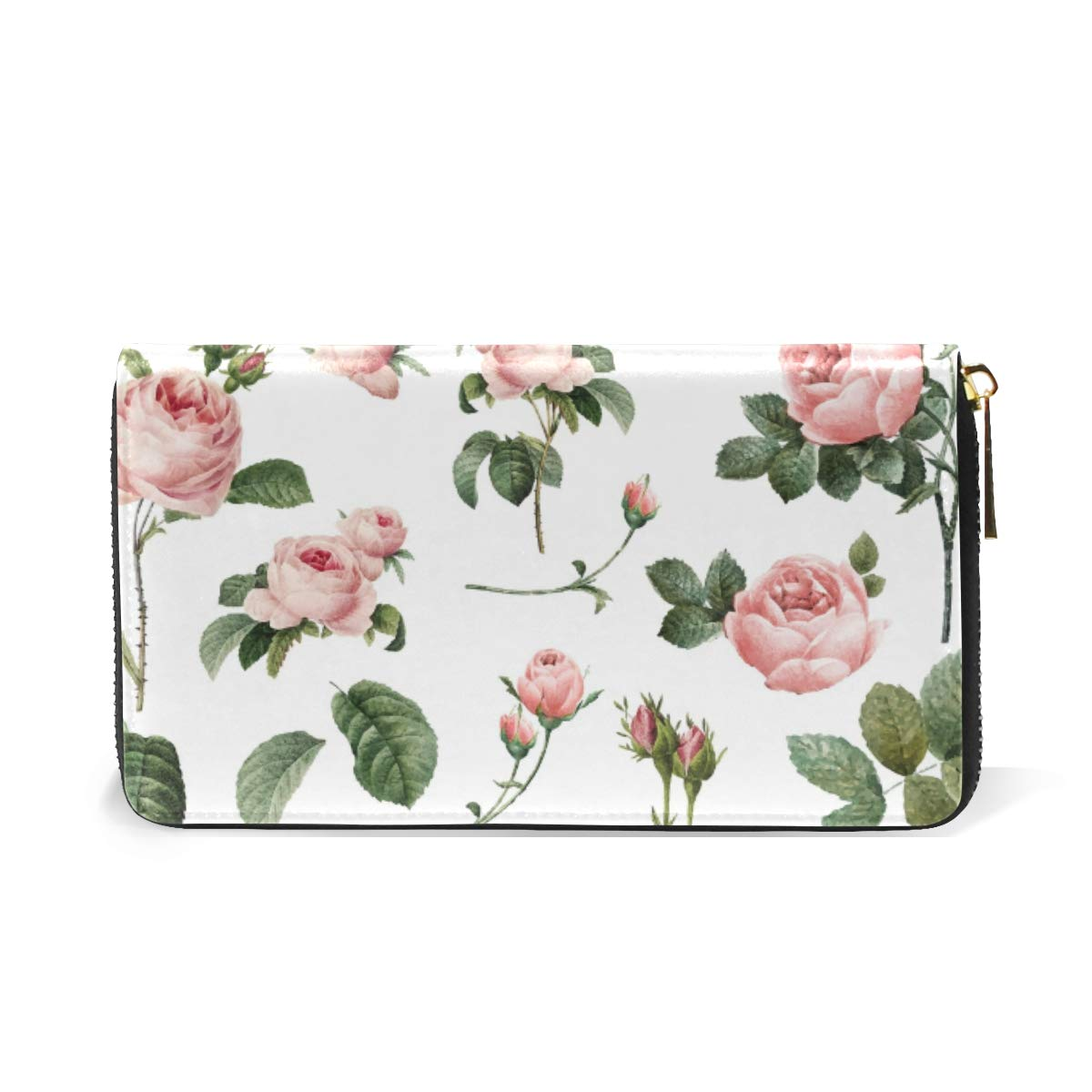 Flower Women Wallet Female Coin Purse Phone Clutch Pouch Girl Cash Bag Leather Card Change Holder Organizer Storage Key Hold Elegant Handbag For Party Birthday Gift