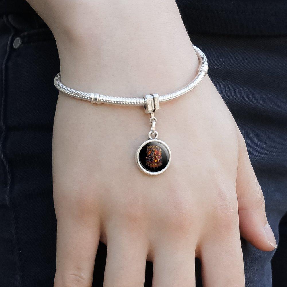 GRAPHICS /& MORE Welding Welder Made in America Italian European Style Bracelet Charm Bead