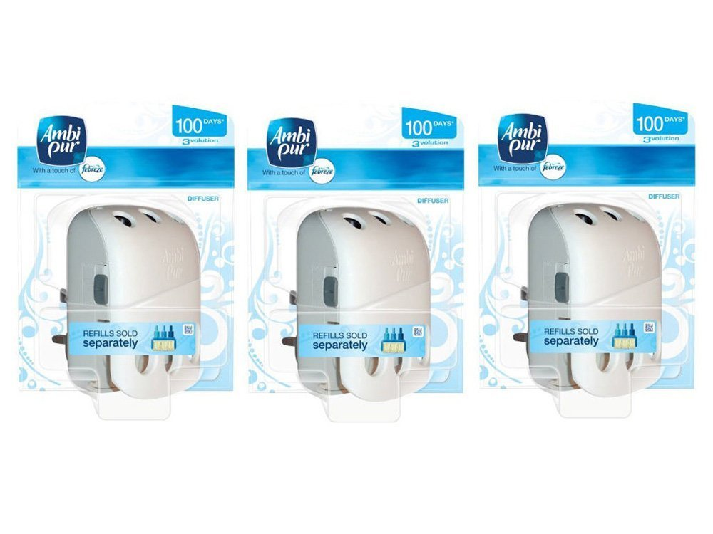 3 X AMBI PUR 3VOLUTION PLUG IN ADJUSTABLE DIFFUSER MACHINE (ONLY) AIR FRESHENER