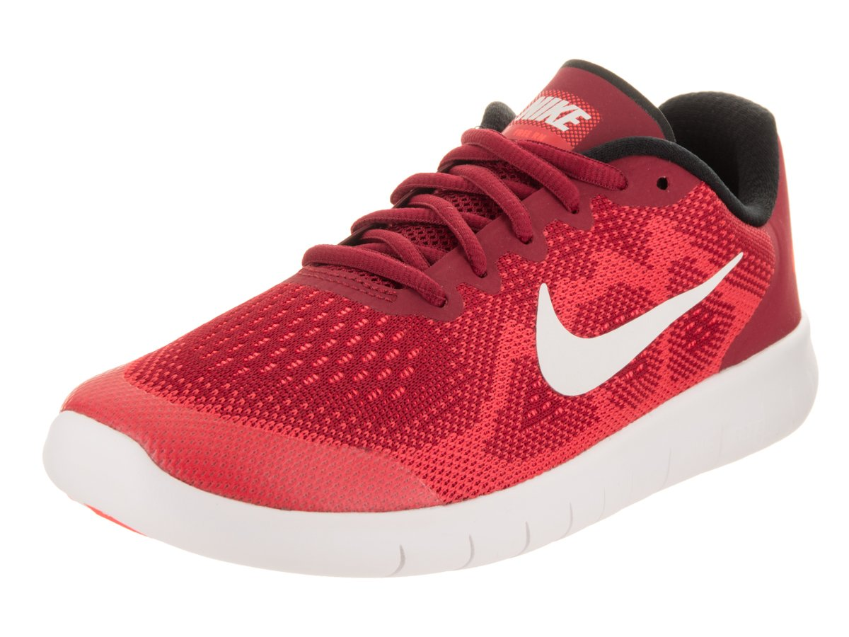 Nike Kids Free RN 2017 (GS) Gym Red/Off White Track Red Running Shoe 5.5 Kids US