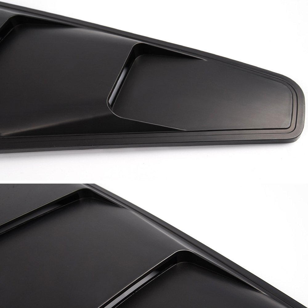 New For Ford Mustang 05-14 1//4 Quarter Black Side Window Louvers Scoop Cover Vent