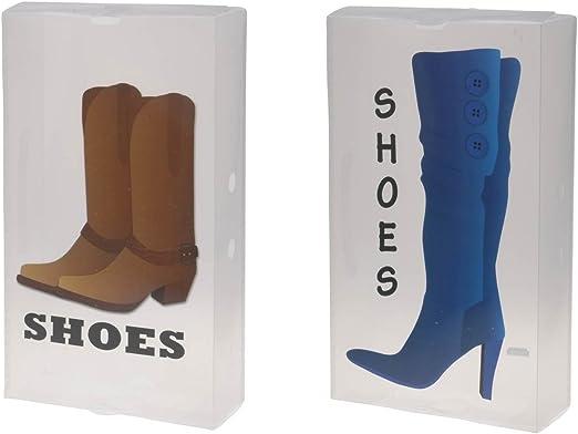 Caja de plástico caja de almacenamiento caja de zapatos Botas Box ...