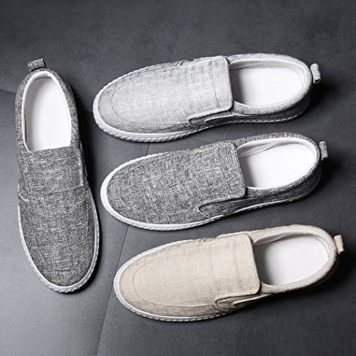 Scarpe Slip Piatte On Uomo Espadrille Uomo Traspiranti Sneaker Giallo Casual SPEEDEVE Lino Estive Scarpe Moda qwvIYPWx