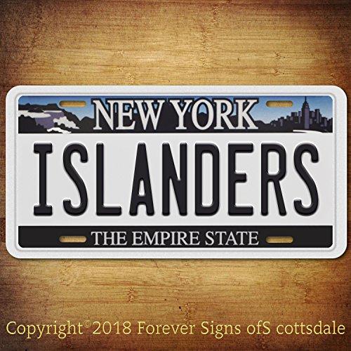 Forever Signs Of Scottsdale Islanders NHL Hockey Team New York Aluminum Vanity License Plate